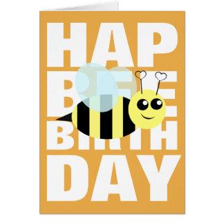 Abeja del feliz cumpleaños tarjeta de felicitación