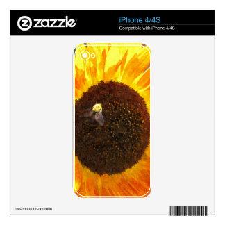 Abeja del girasol calcomanía para iPhone 4