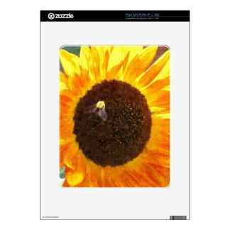 Abeja del girasol skin para el iPad