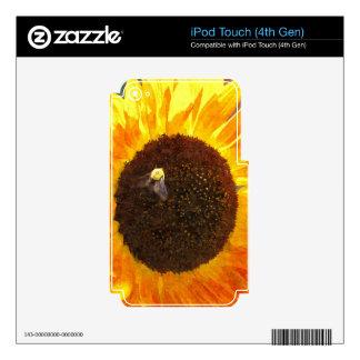 Abeja del girasol skins para iPod touch 4G
