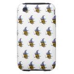 abeja del mago 3d (fondo editable!) tough iPhone 3 fundas