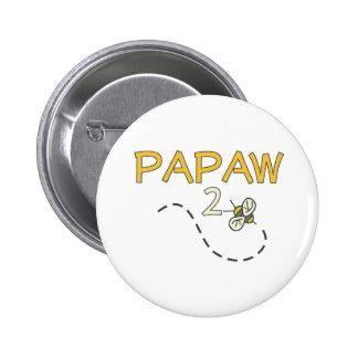 Abeja del Papaw 2 Pin Redondo De 2 Pulgadas