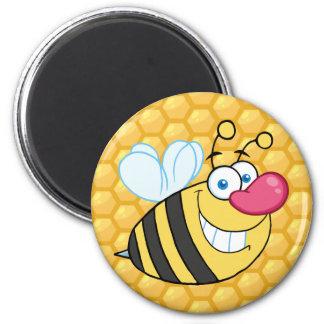 Abeja del peine de la miel imán de frigorífico