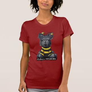 Abeja del perro del escocés camisetas