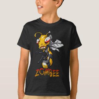 Abeja divertida del zombi playera