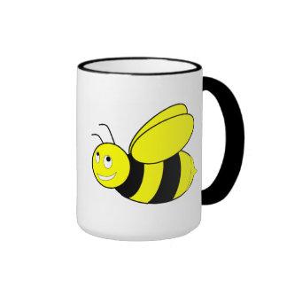 Abeja dulce taza a dos colores