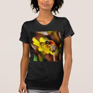 Abeja en el Celandine Camisetas