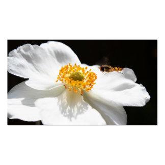 Abeja en la flor tarjetas de visita