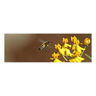 Abeja en señal de la flor tarjetas de visita mini