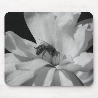 Abeja en un Centennial 3 de la magnolia Tapetes De Ratones