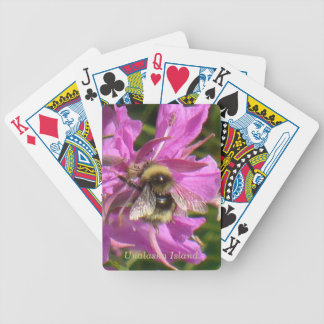 Abeja en un flor del Fireweed Cartas De Juego
