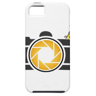 Abeja en una cámara digital iPhone 5 Case-Mate protectores