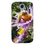 Abeja en una flor púrpura