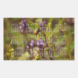 Abeja enérgica; Calendario 2013 Pegatina Rectangular