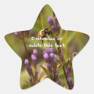 Abeja enérgica; Personalizable Pegatina En Forma De Estrella
