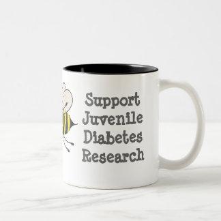 Abeja enterada de la diabetes juvenil - taza