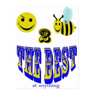 abeja feliz 2 el mejor en cualquier cosa tarjeta postal