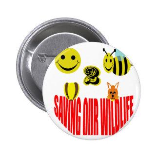 Abeja feliz 2 que ahorra nuestra fauna pin