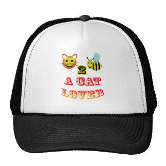 abeja feliz 2 un amante del gato gorras