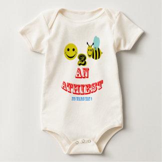 ¡Abeja feliz 2 un ateo (ningunas guerras Yay! ) Body Para Bebé