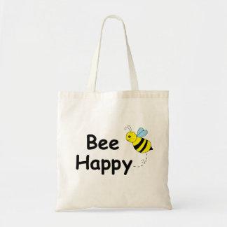Abeja feliz bolsa de mano