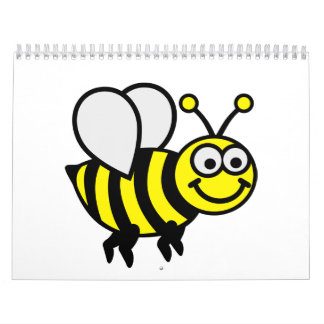 Abeja feliz calendario de pared