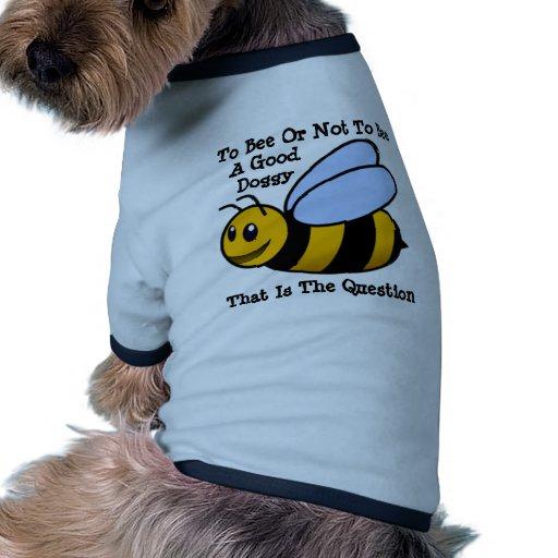 Abeja feliz camiseta con mangas para perro
