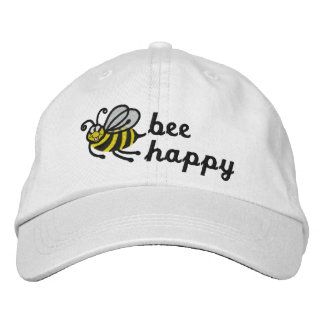 Abeja feliz - casquillo gorra de beisbol