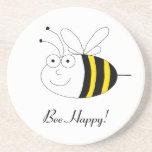 ¡Abeja feliz! Práctico de costa lindo de la abeja Posavasos Manualidades