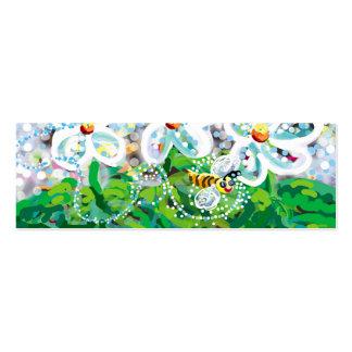 Abeja feliz tarjetas de visita mini