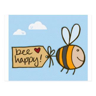 Abeja feliz tarjetas postales