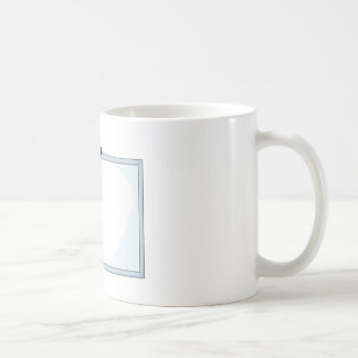 Abeja feliz taza básica blanca
