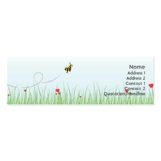 Abeja - flaca tarjetas de visita mini