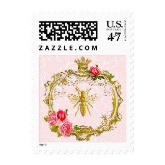 Abeja francesa y sellos reales de la corona