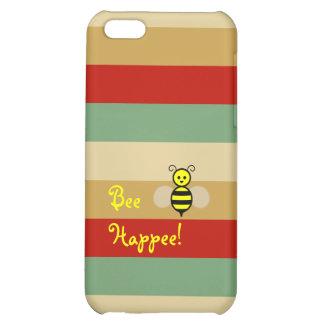 ¡Abeja Happee! Caja verde beige roja del iPhone de