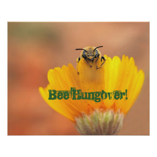 ¡Abeja Hungover Poster
