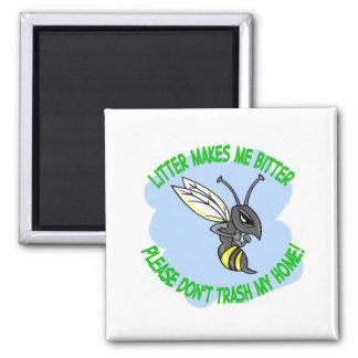 abeja imán cuadrado