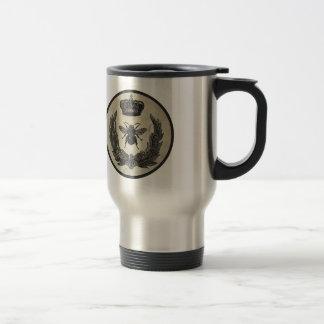 Abeja imperial taza de viaje de acero inoxidable