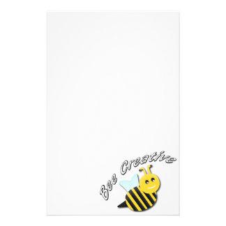 abeja inmóvil papelería de diseño