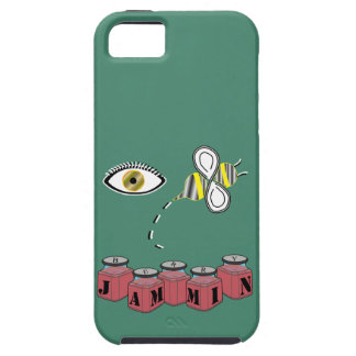 Abeja Jammin del ojo iPhone 5 Carcasas