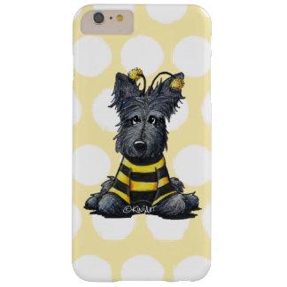 Abeja KiniArt del perro del escocés Funda Para iPhone 6 Plus Barely There