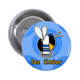 abeja kosher pin redondo de 2 pulgadas