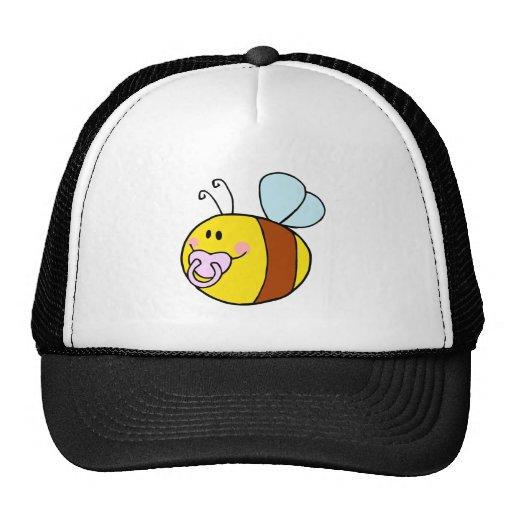 abeja linda de la miel del bebé con el dibujo anim gorras