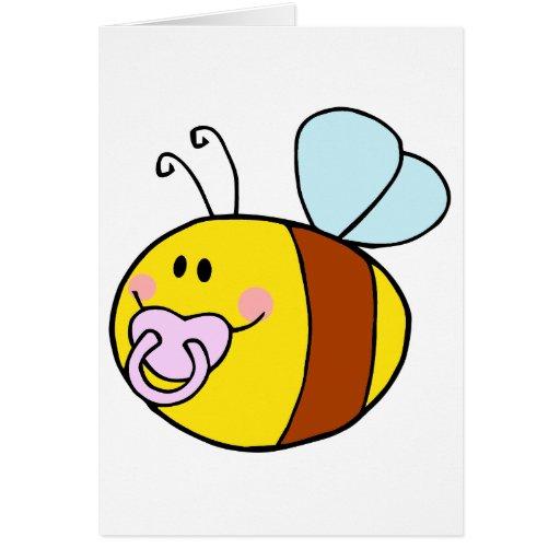 abeja linda de la miel del bebé con el dibujo tarjeta de felicitación