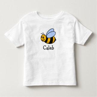 Abeja linda del dibujo animado personalizada con playera de bebé