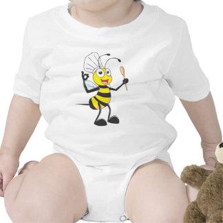 Abeja linda en el equipo del cocinero delicioso traje de bebé