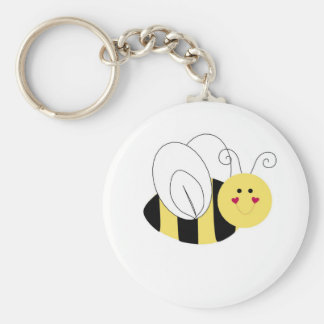 abeja llavero redondo tipo pin