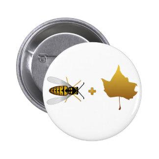 Abeja más una hoja de arce = una abeja de oro + Ho