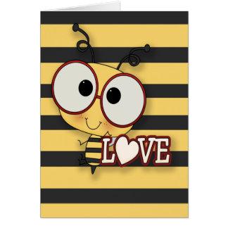 Abeja mi amor tarjetas