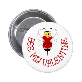 Abeja mi botón de la tarjeta del día de San Valent